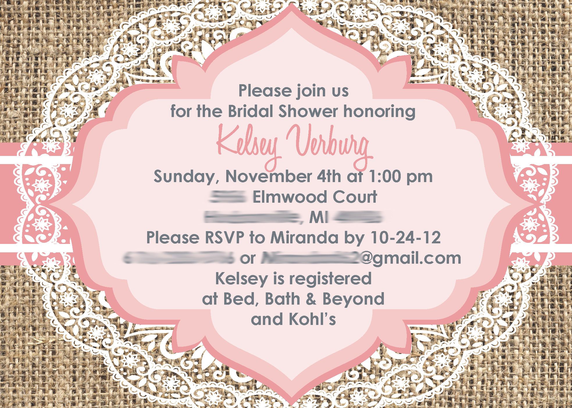 Vintage Bridal Shower Invites with amazing invitation sample